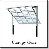 Canopy operating gear