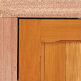 Hardwood timber sub frame in red meranti