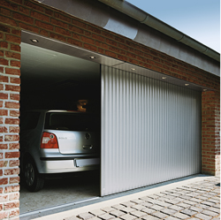 aluminium round the corner horizontal sliding garage door