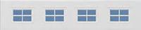 Cross - Garador Sectional Door Window Design