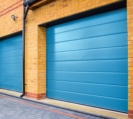 Blue Carteck sectional garage door installation