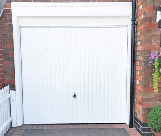 Installation of White Hormann Up and Over garage door