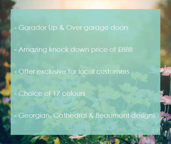 Garador Up and Over Special Offer from The Garage Door Centre