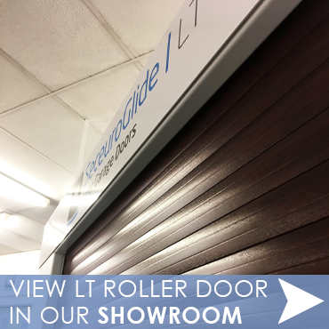 View SeceuroGlide LT Roller Door in The Garage Door Centre showroom