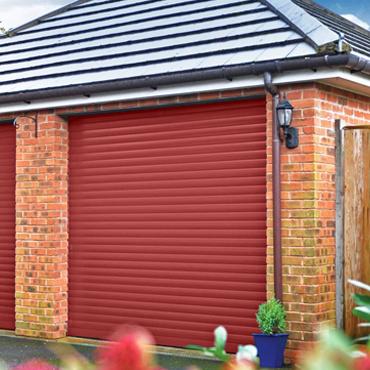 SeceuroGlide roller garage door in Red