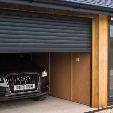 SeceuroGlide roller door in Anthracite