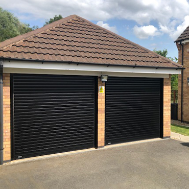Pair of SeceuroGlide roller garage doors