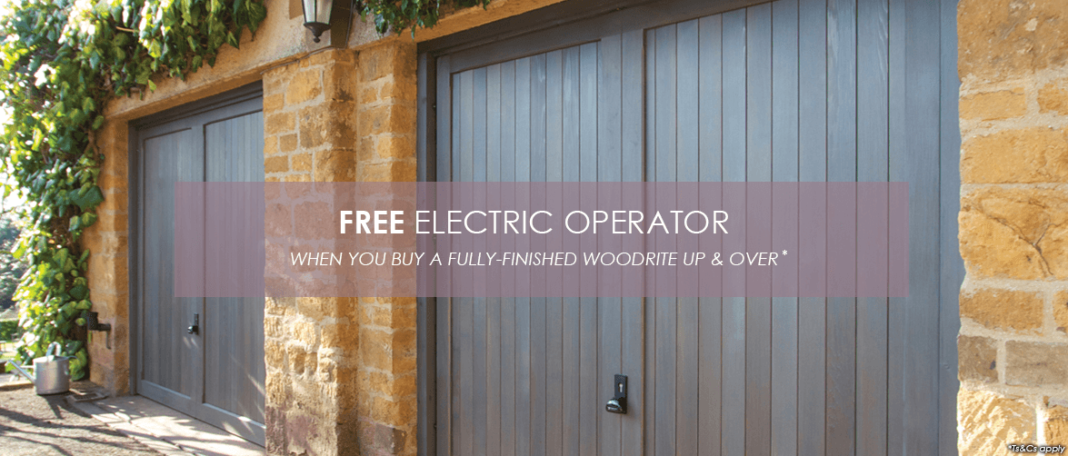 Free operator with Woodrite Chalfont up and over doors