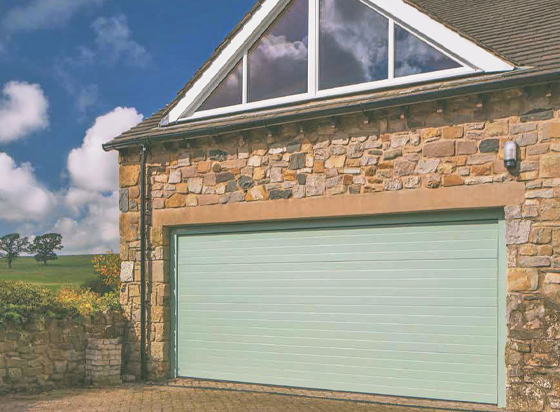 SWS Sectional Garage Door with Small Rib Design