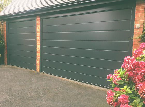 Single and Double Carteck sectional garage doors