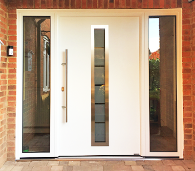 Hormann Insulated Front Entrance Door in White