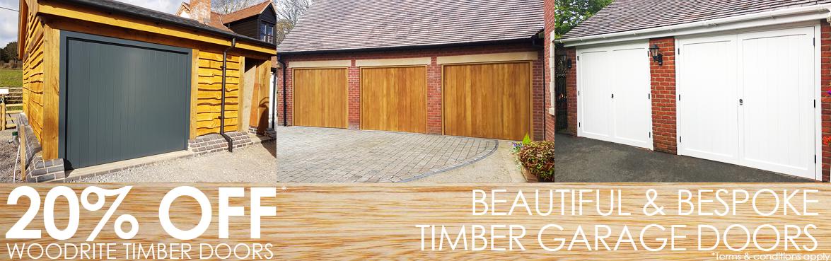 20% off Woodrite timber garage doors