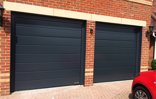 Modern look Anthracite Grey sectional doors