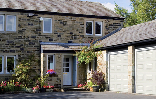Heritage colours for sectional garage doors