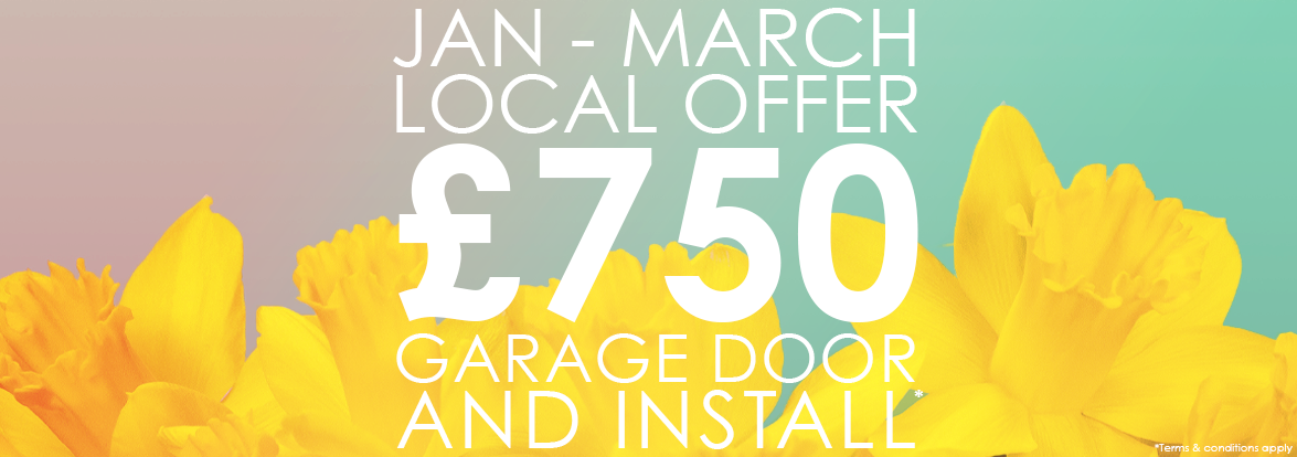 Up and Over Garage Door and Installation for £750