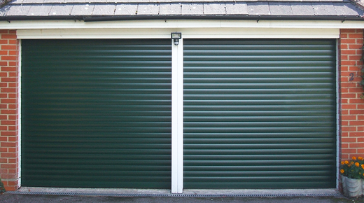 Pair of Roller Shutter Garage Doors