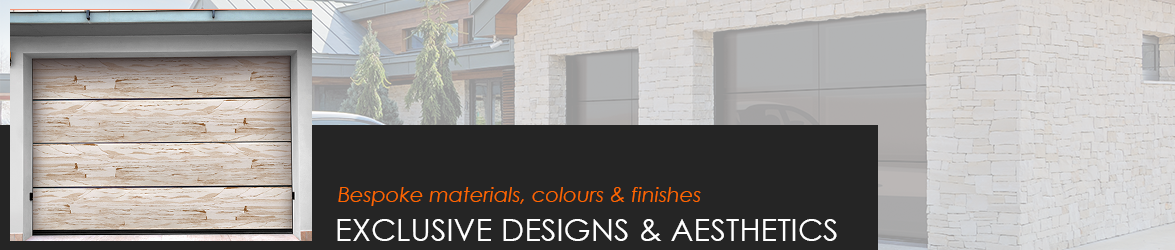 Exclusive designs and aesthetics for sectional garage doors