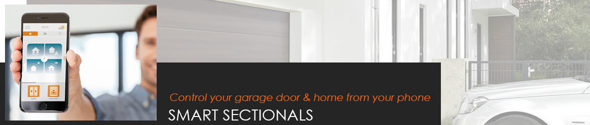 Smart Sectional Garage Doors - control from your smartphone