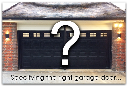 Specifying The Right Garage Door