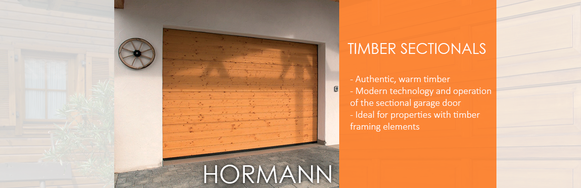 Timber Sectional Garage Doors from Hormann
