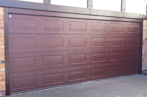 Carteck Georgian panelled double width sectional garage door - Teckuntrup