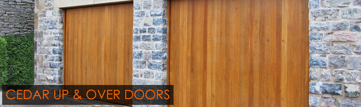 Cedar Up and Over timber garage doors