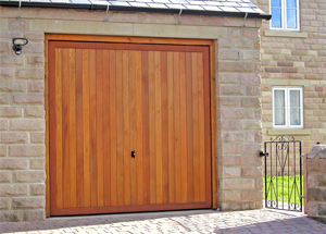 Timber up and over garage door by Cedar Doors
