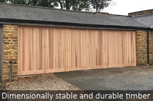Cedar Doors use dimensionally stable and durable timber