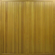 Cedar Doors - Heathersage - Traditional Boarded timber up and over door
