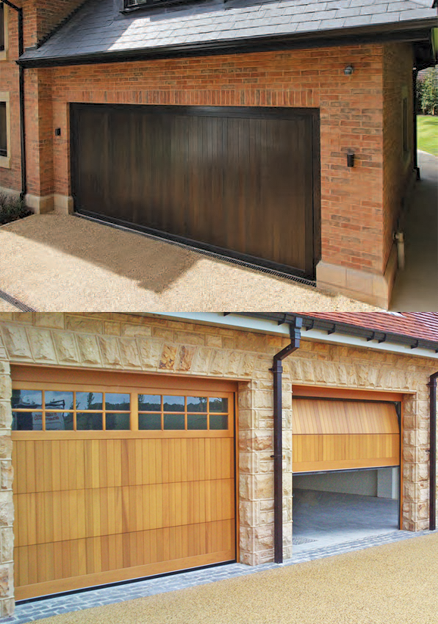 Cedarwood Up and Over and Sectional Garage Doors