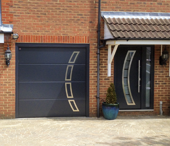 Matching Front Entrance and Garage Doors from The Garage Door Centre