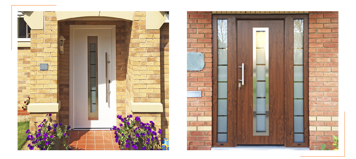 Front Entrance Doors installed by The Garage Door Centre