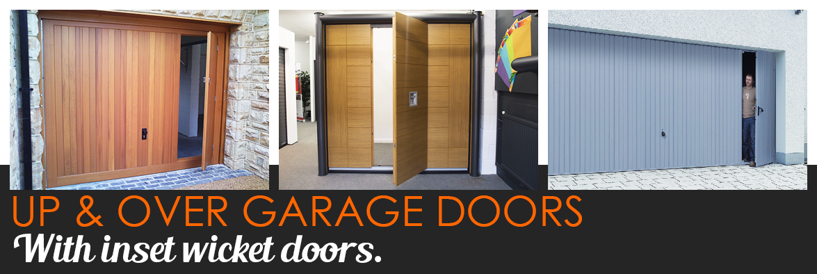 Up and Over garage doors with wicket door