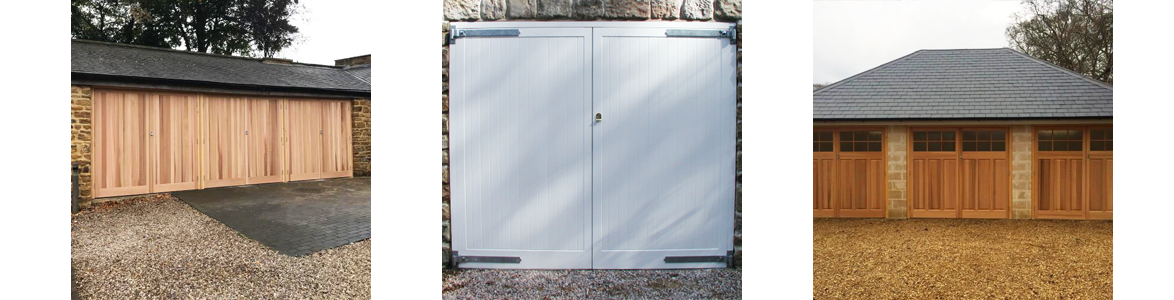 Remote Controlled Timber Side Hinged Garage Door Prices from The Garage Door Centre