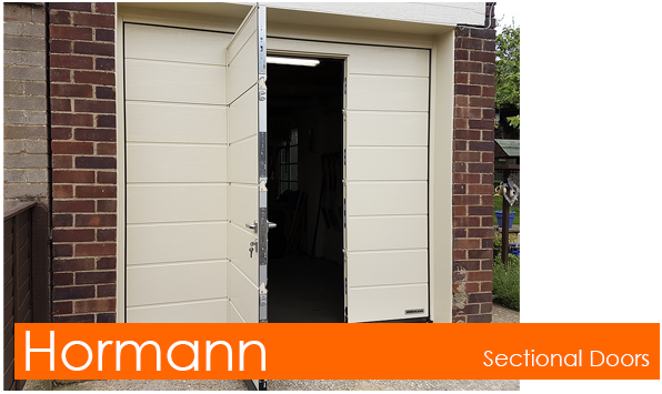 Hormann Sectional Doors with Pedestrian Wicket Doors