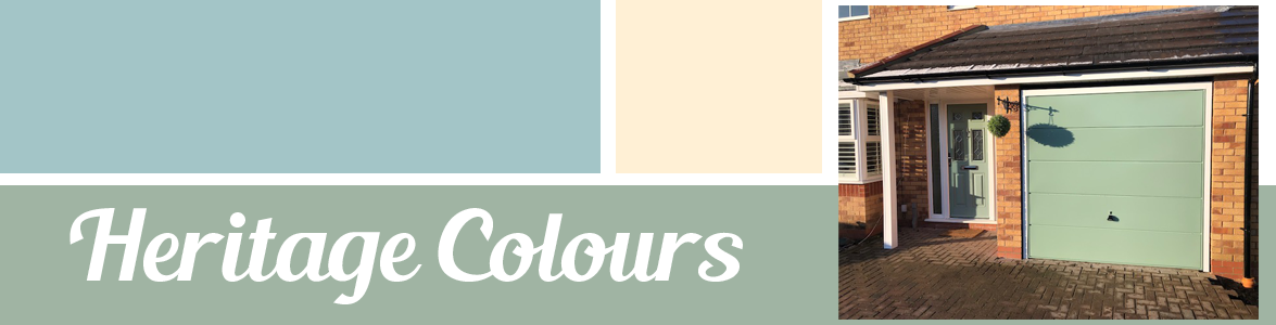 Heritage Colours for front and garage doors from The Garage Door Centre
