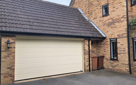 Hormann LPU 42 Sectional Garage Door in Heritage Colour Light Ivory