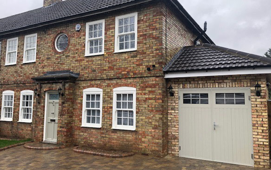 Ryterna Side Hinged Garage Door in Heritage Colour Pebble Grey
