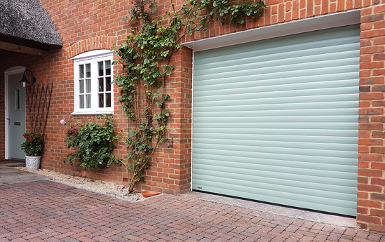 SeceuroGlide Roller Garage Door in Heritage Colour Chartwell Green