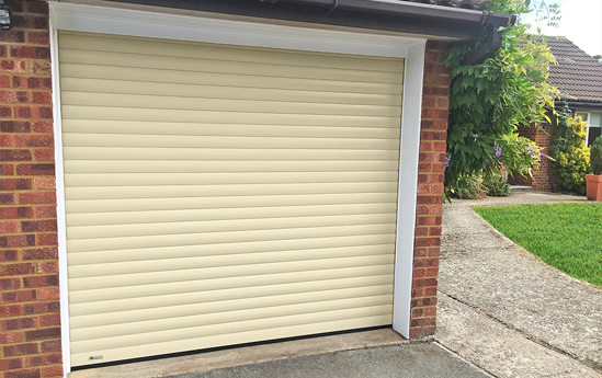 SeceuroGlide Roller Garage Door in Heritage Colour Ivory