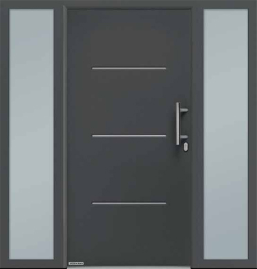 Hormann Front Entrance Door - Thermo 46 Style 515