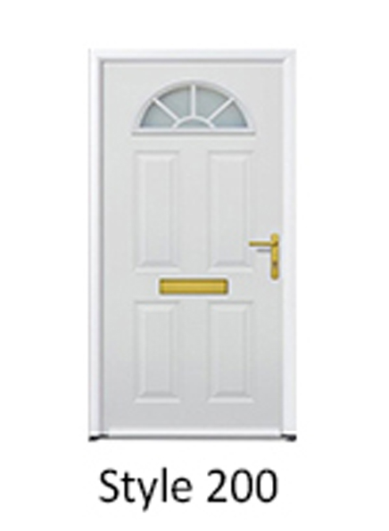 hormann traditional british front entrance door crescent window design panelled door fascia with letterbox