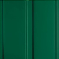 Hormann Green RAL 6005 powder coat finish on a garage door