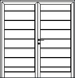 Hormann M-Ribbed Side Hinged garage door