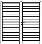 Hormann side-hinged garage door infill design s ribbed