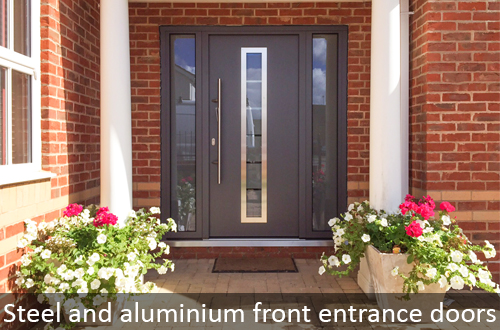Hormann steel and aluminium front entrance doors