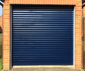 Roller shutter garage door installation by The Garage Door Centre