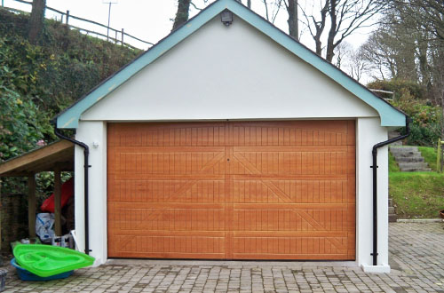 Hormann Hemlock Sectional Timber Garage Door Style 405