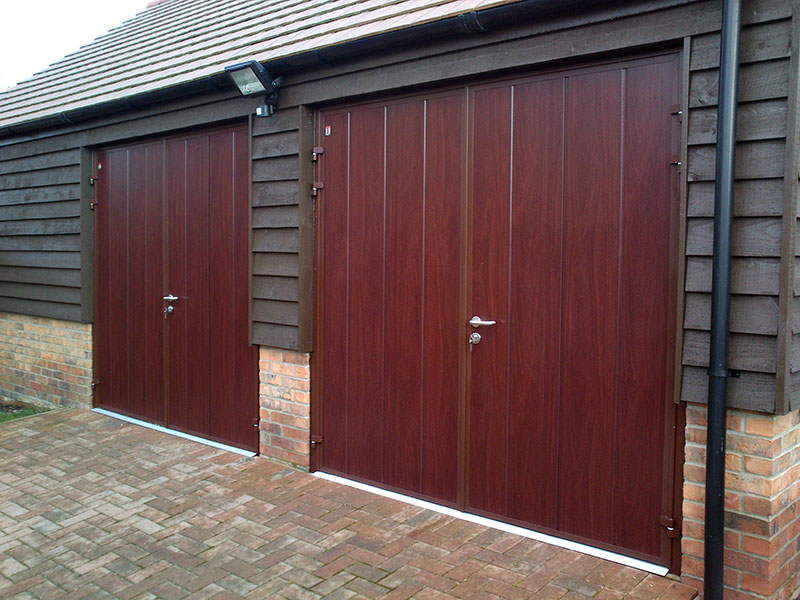 Matching Rosewood Side Hinged Doors