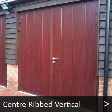 Centre Ribbed Vertical - Carteck Side Hinged Garage Doors